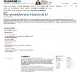 """El periódico """"La Verdad"""" escribe en sus páginas sobre el nuevo plan estratégico de Ibi"""