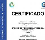 CREDIPLAST obtiene la certificación de la Norma IATF 16949:2016