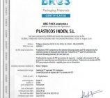 PLÁSTICOS INDEN renueva el certificado BRC