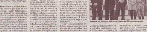 """FEMPA apoya el magnífico proyecto """"Ibi, Espíritu Emprendedor"""" de IBIAE"""