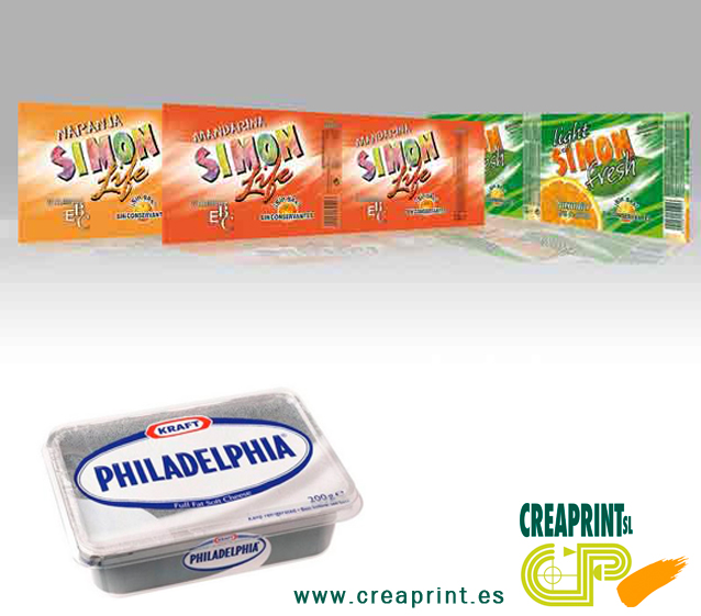 Creaprint, Etiquetas de los envases del queso philadelphia o de Simon Life