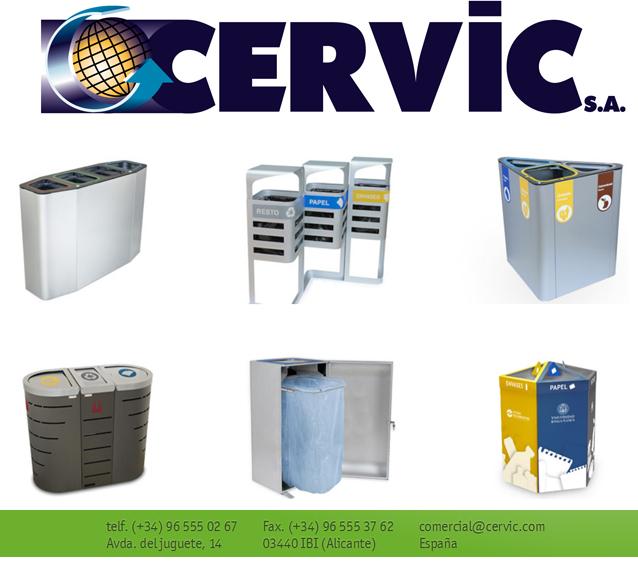 Papeleras de Reciclaje fabricadas por Cervic