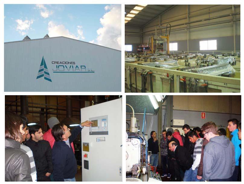 Creaciones Joviar S.L muestra sus instalaciones a los alumnos de los Ciclos de Mecanizado y Plástico