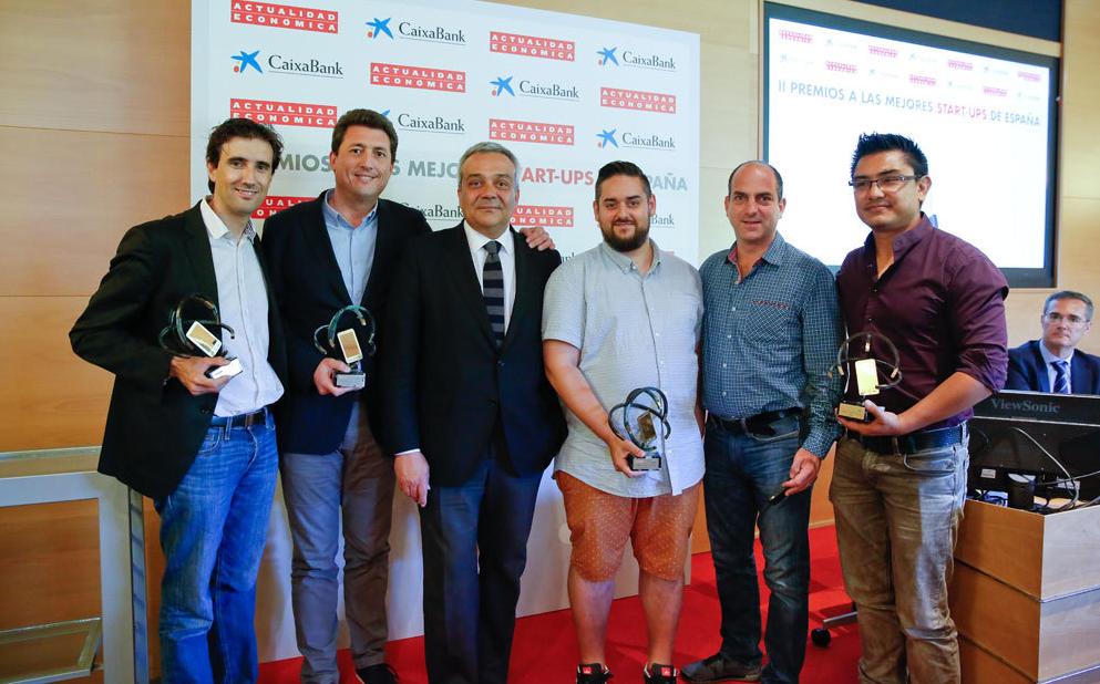 César Mariel - CEO Iristrace recogiendo el premio
